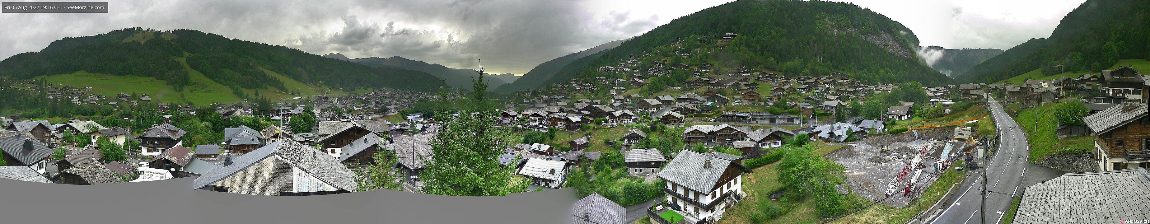 a panoramic view of Morzine